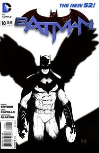 Cover Thumbnail for Batman (DC, 2011 series) #10 [Greg Capullo Black & White Cover]