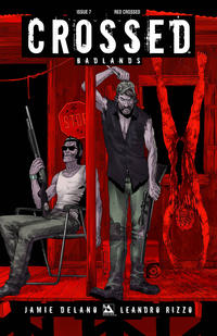 Cover Thumbnail for Crossed Badlands (Avatar Press, 2012 series) #7 [Incentive Red Crossed Cover - Jacen Burrows]