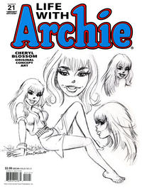 Cover Thumbnail for Life with Archie (Archie, 2010 series) #21 [Variant Edition (Cheryl Blossom Original Concept Art)]