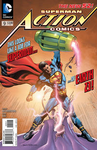 Cover Thumbnail for Action Comics (DC, 2011 series) #9 [Rags Morales Variant Cover]