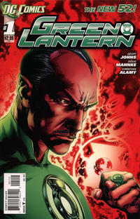 Cover Thumbnail for Green Lantern (DC, 2011 series) #1 [2nd Printing - Red Background]