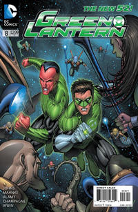 Cover Thumbnail for Green Lantern (DC, 2011 series) #8 [Dale Keown Cover]