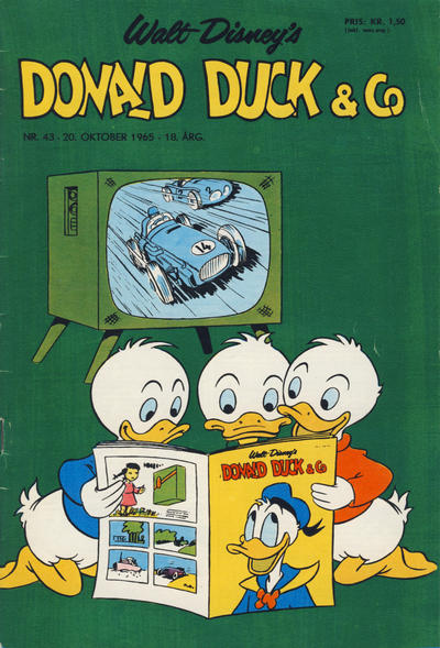 Cover for Donald Duck & Co (Hjemmet / Egmont, 1948 series) #43/1965
