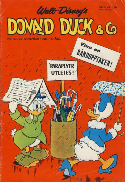 Cover for Donald Duck & Co (Hjemmet / Egmont, 1948 series) #40/1965