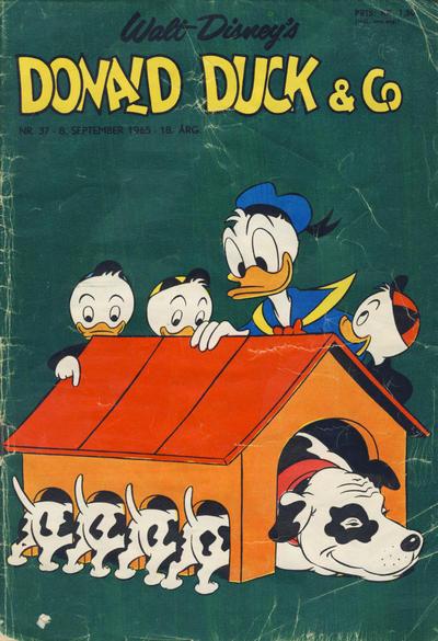 Cover for Donald Duck & Co (Hjemmet / Egmont, 1948 series) #37/1965