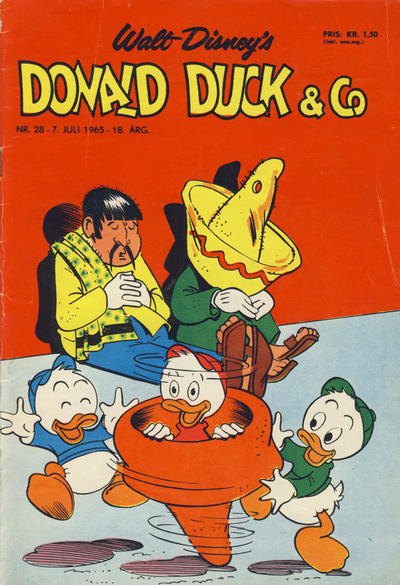 Cover for Donald Duck & Co (Hjemmet / Egmont, 1948 series) #28/1965