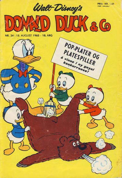 Cover for Donald Duck & Co (Hjemmet / Egmont, 1948 series) #34/1965