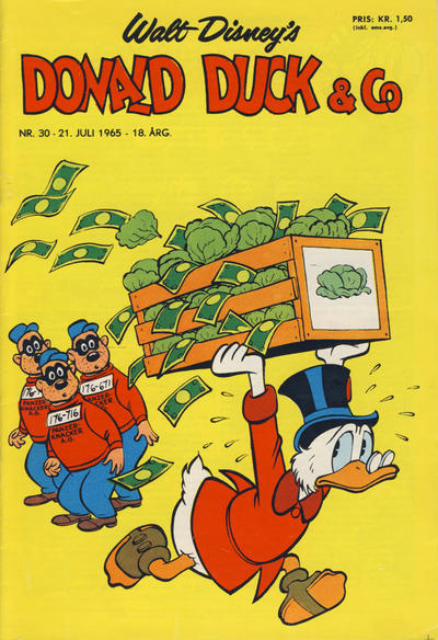 Cover for Donald Duck & Co (Hjemmet / Egmont, 1948 series) #30/1965