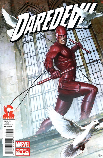 Cover for Daredevil (Marvel, 2011 series) #11 [Avengers Art Appreciation variant cover]