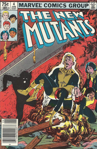 Cover for The New Mutants (Marvel, 1983 series) #4 [Direct Edition]