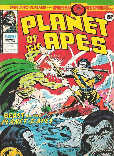 Cover for Planet of the Apes (Marvel UK, 1974 series) #85
