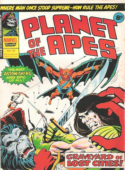 Cover for Planet of the Apes (Marvel UK, 1974 series) #84