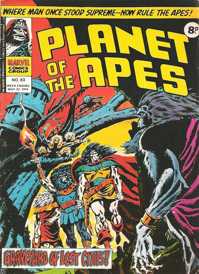 Cover for Planet of the Apes (Marvel UK, 1974 series) #83