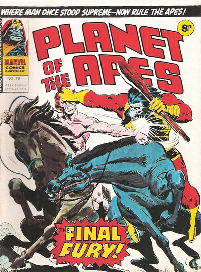 Cover for Planet of the Apes (Marvel UK, 1974 series) #79