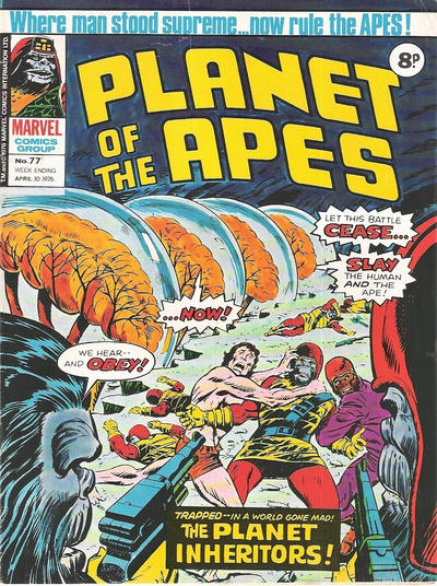 Cover for Planet of the Apes (Marvel UK, 1974 series) #77