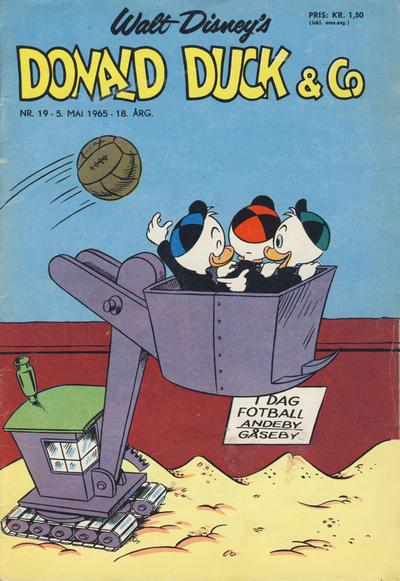 Cover for Donald Duck & Co (Hjemmet / Egmont, 1948 series) #19/1965