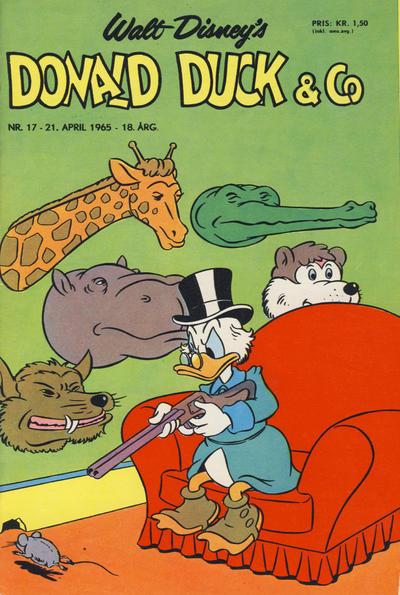 Cover for Donald Duck & Co (Hjemmet / Egmont, 1948 series) #17/1965