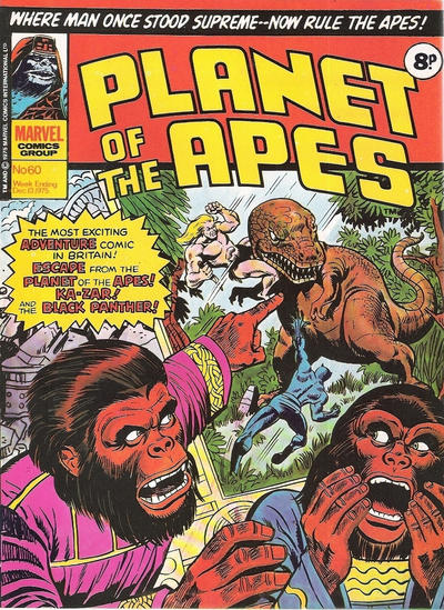 Cover for Planet of the Apes (Marvel UK, 1974 series) #60