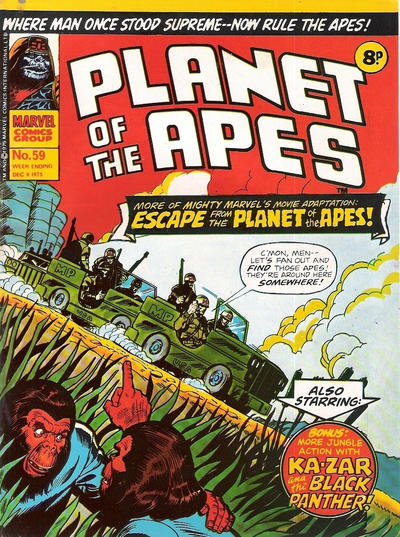 Cover for Planet of the Apes (Marvel UK, 1974 series) #59