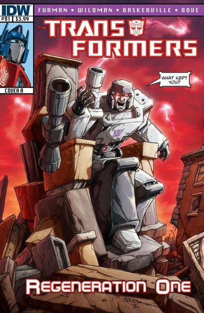 Cover for Transformers: Regeneration One (IDW, 2012 series) #81 [Cover RI-A - Incentive Geoff Senior Variant]