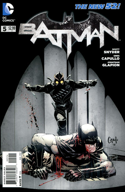 Cover for Batman (DC, 2011 series) #5 [Third Printing]