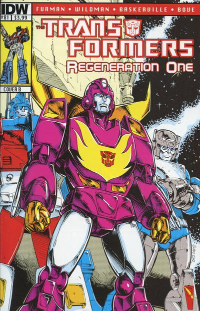 Cover for Transformers: Regeneration One (IDW, 2012 series) #81 [Cover A - Andrew Wildman]