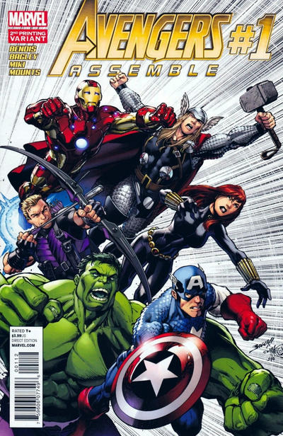 Cover for Avengers Assemble (Marvel, 2012 series) #1 [Blank Variant]