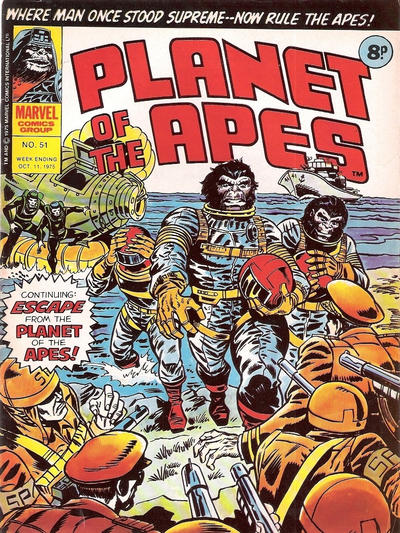 Cover for Planet of the Apes (Marvel UK, 1974 series) #51