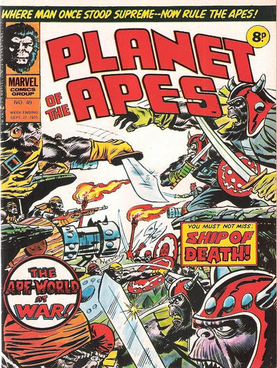 Cover for Planet of the Apes (Marvel UK, 1974 series) #49