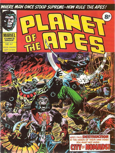 Cover for Planet of the Apes (Marvel UK, 1974 series) #47