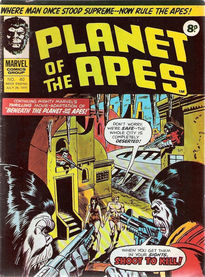 Cover for Planet of the Apes (Marvel UK, 1974 series) #40
