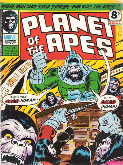 Cover for Planet of the Apes (Marvel UK, 1974 series) #36