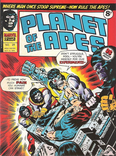 Cover for Planet of the Apes (Marvel UK, 1974 series) #29