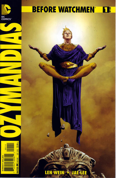 Cover for Before Watchmen: Ozymandias (DC, 2012 series) #1 [Combo Pack Variant Cover by Jae Lee]