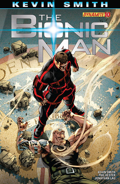 Cover for Bionic Man (Dynamite Entertainment, 2011 series) #10 [Variant Cover by Johnathan Lau]