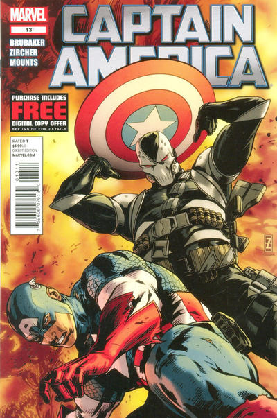 Cover for Captain America (Marvel, 2011 series) #13 [Amazing Spider-Man In Motion Variant Cover]