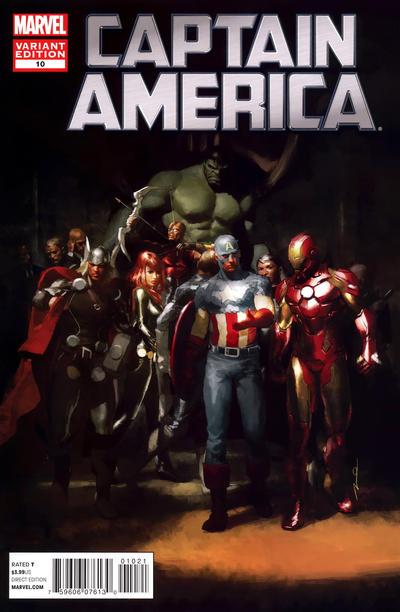 Cover for Captain America (Marvel, 2011 series) #10 [Avengers Art Appreciation Variant Cover]