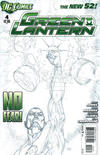 Cover for Green Lantern (DC, 2011 series) #4 [Mahnke Sketch Variant Cover]
