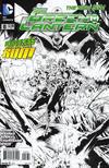 Cover for Green Lantern (DC, 2011 series) #8 [Doug Mahnke / Mark Irwin Black & White Cover]
