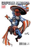 Cover for Captain America (Marvel, 2011 series) #3 [Salvador Larroca Architect Variant]