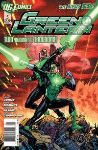 Cover Thumbnail for Green Lantern (DC, 2011 series) #5 [newsstand]