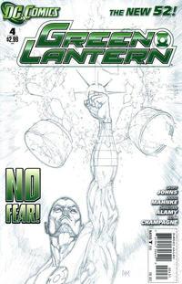 Cover Thumbnail for Green Lantern (DC, 2011 series) #4 [Doug Mahnke Sketch Cover]