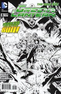 Cover Thumbnail for Green Lantern (DC, 2011 series) #8 [Doug Mahnke / Mark Irwin Black & White Cover]