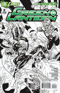 Cover Thumbnail for Green Lantern (DC, 2011 series) #2 [Mahnke Sketch Variant Cover]
