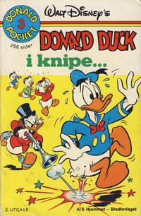 Cover Thumbnail for Donald Pocket (Hjemmet / Egmont, 1968 series) #3 - Donald Duck i knipe ... [3. opplag]