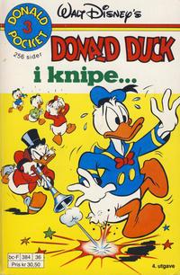 Cover Thumbnail for Donald Pocket (Hjemmet / Egmont, 1968 series) #3 - Donald Duck i knipe ... [4. opplag]