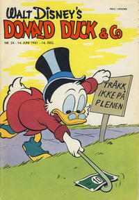 Cover Thumbnail for Donald Duck & Co (Hjemmet / Egmont, 1948 series) #24/1961