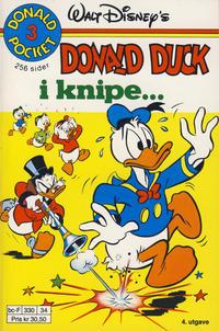 Cover Thumbnail for Donald Pocket (Hjemmet / Egmont, 1968 series) #3 - Donald Duck i knipe ... [4. opplag Reutsendelse 330 34]