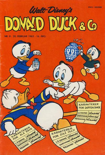 Cover for Donald Duck & Co (Hjemmet / Egmont, 1948 series) #8/1963