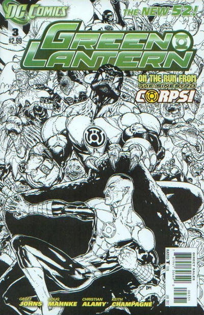 Cover for Green Lantern (DC, 2011 series) #3 [Ethan Van Sciver Variant Cover]
